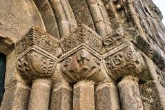 Detalj av den Boelhe romanesquekyrkan i Penafiel Royaltyfria Bilder