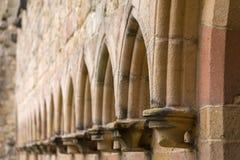 Detalj av den Bolton abbotskloster i de Yorkshire dalarna Arkivfoto