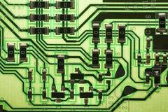Detalj av den elektroniska strömkretsen royaltyfri foto
