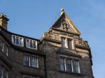 Detalj av den fina arkitekturen i Lancaster England i mitten av staden arkivbilder