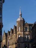 Detalj av den fina arkitekturen i Lancaster England i mitten av staden arkivbild