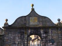 Detalj av den fina arkitekturen i Lancaster England i mitten av staden royaltyfri fotografi