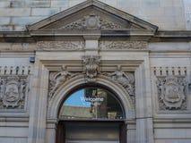Detalj av den fina arkitekturen i Lancaster England i mitten av staden royaltyfri bild