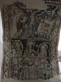 Detalj av den forntida bilden i medeltida kyrka i Sighisoara, Rumänien Royaltyfri Bild