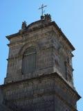 Detalj av den forntida katolska kyrkan Arkivbild