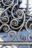 Detalj av den forntida porten Arkivbilder
