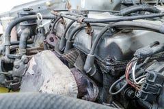 Detalj av den gamla motorn royaltyfri foto
