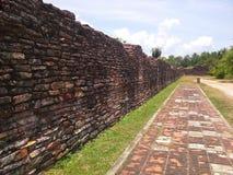 Detalj av den gamla väggen, Songkhla, Thailand Arkivfoto