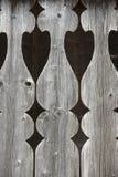 Detalj av den gammala balkongräcket Arkivfoton
