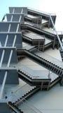 Detalj av den geometriska trappan Royaltyfria Bilder