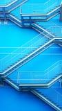 Detalj av den geometriska trappan Arkivfoto