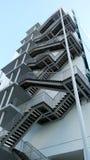 Detalj av den geometriska trappan Royaltyfri Fotografi