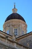 Detalj av den historiska domkyrkan i Dubrovnik Royaltyfria Foton