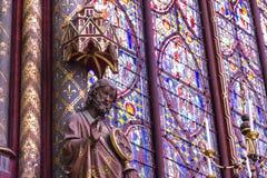 Detalj av den inre Chapelle kyrkan france paris Royaltyfri Bild