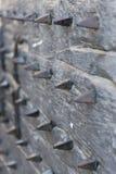Detalj av den medeltida södra stadporten i Trogir, UNESCOstad, Kroatien Royaltyfri Bild