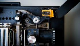 Detalj av den 8mm projektorn Fotografering för Bildbyråer
