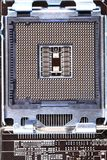 Detalj av den moderna datormainboarden (moderkortet) Arkivbilder