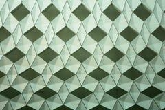Detalj av den moderna geometriska väggdesignen Royaltyfri Foto