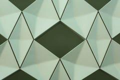 Detalj av den moderna geometriska väggdesignen Royaltyfri Fotografi