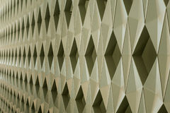 Detalj av den moderna geometriska väggdesignen Arkivfoton