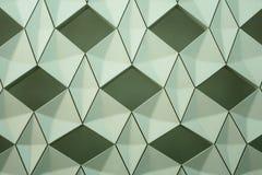 Detalj av den moderna geometriska väggdesignen Royaltyfri Bild