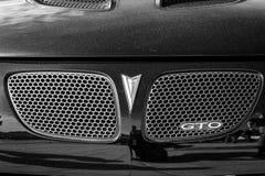 Detalj av den muskelbilPontiac GTO fjärde utvecklingen, 2006 Arkivbild