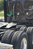 Detalj av den nya Halv-lastbil taxin Royaltyfri Foto