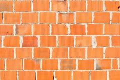 Detalj av den nya tegelstenväggen royaltyfria bilder