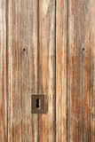Detalj av den orange trädörren Royaltyfri Foto