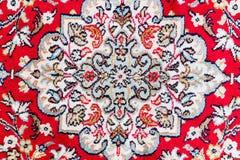 Detalj av den orientaliska mattmodellen Arkivbilder