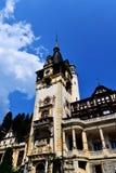 Detalj av den Peles slotten i Sinaia - Rumänien Arkivfoto