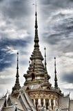 Detalj av den Pho för tempelMaha Wihan luang tån Arkivbilder