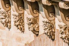 Detalj av den Pont Neuf paris staden Frankrike Fotografering för Bildbyråer