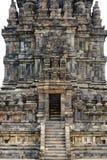 Detalj av den Prambanan templet i den Java ön, Indonesien royaltyfria bilder