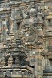 Detalj av den Prambanan templet i den Java ön, Indonesien royaltyfria foton