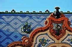 Detalj av den Raichle slotten, Subotica, Serbien Royaltyfria Foton
