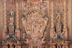 Detalj av den Santa Prisca kyrkan i Taxco, Mexico royaltyfria bilder
