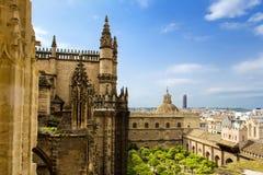 Detalj av den Seville domkyrkan, St Mary av se, i Seville, arkivfoto