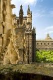 Detalj av den Seville domkyrkan, St Mary av se, i Seville, arkivbilder
