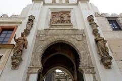 Detalj av den Seville domkyrkan, St Mary av se, i Seville, royaltyfri bild