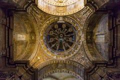 Detalj av den Tarragona domkyrkan, Spanien Royaltyfri Foto