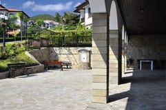 Detalj av den tempelhelgonVlasiy kyrkan i Bulgarien Arkivfoton