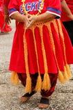 Detalj av den traditionella tongan kjolen arkivfoton