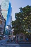 Detalj av den västra 40th gatan i Manhattan Royaltyfri Foto