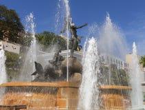 Detalj av den våta Raices statyn Royaltyfria Bilder