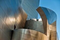 Detalj av den Walt Disney konserthallen Arkivfoton