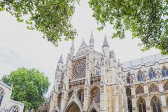 Detalj av den Westminster abbotskloster i London stadsmitt Royaltyfria Bilder