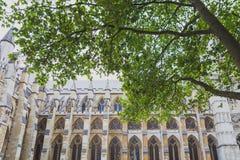 Detalj av den Westminster abbotskloster i London stadsmitt Fotografering för Bildbyråer