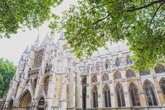Detalj av den Westminster abbotskloster i London stadsmitt Arkivbild