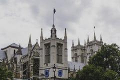 Detalj av den Westminster abbotskloster i London stadsmitt Arkivfoton